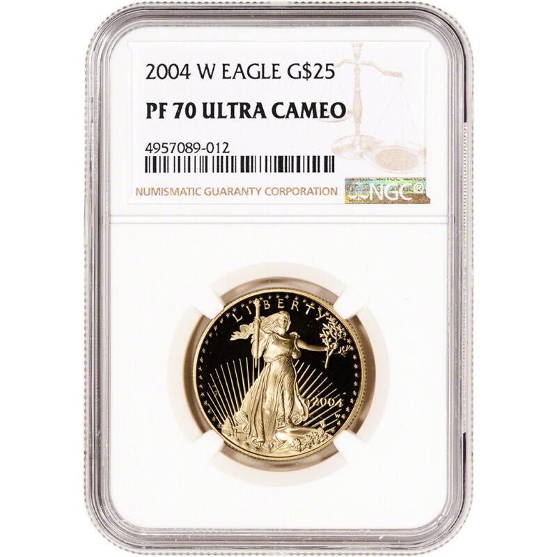 2004-W American Gold Eagle Proof 1/2 oz $25 - NGC PF70 UCAM