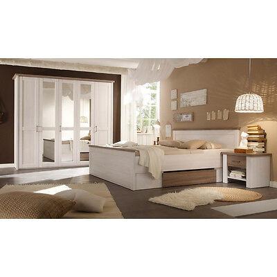 Schlafzimmer Luca Pinie weiß Set komplett 4tlg.