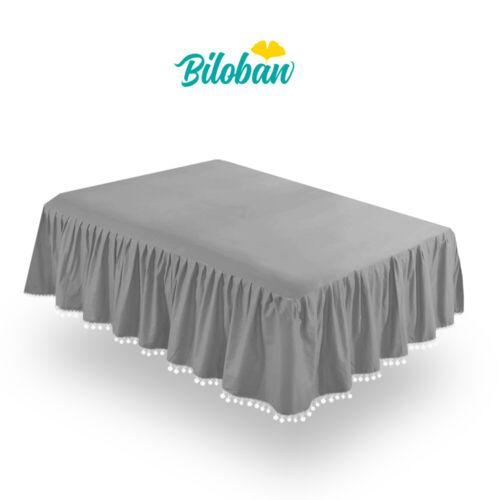 """Girl Crib Skirt Baby Bedding Skirt Pleated Dust Ruffle Cribskirt Grey 52""""X28"""""""