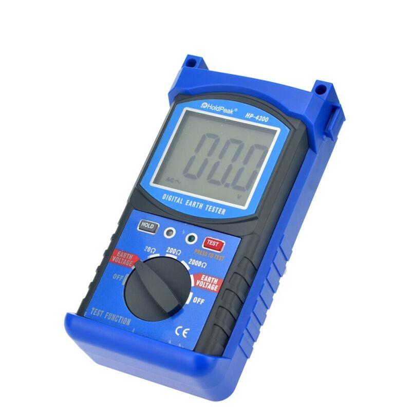 Digital Earth Ground Resistance Tester 2000Ω Multimeter 200V Voltage Meter 4300