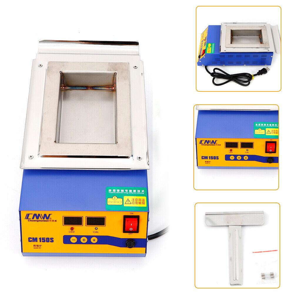 220V Stainless Steel Solder Soldering Pot Digital Preheat Desoldering Bath Pot