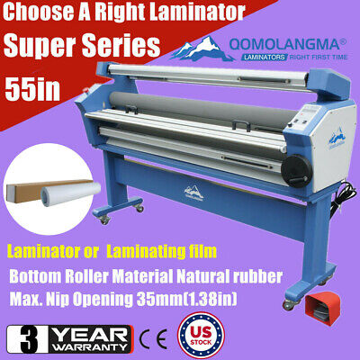 Usa 55in Heat Assisted Full-auto Wide Cold Roll Laminator Or 54 Laminating Film
