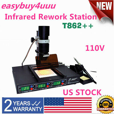 Infrared Irda Welder Bga Heating Rework Desoldering Station Xbox T862 110v Us