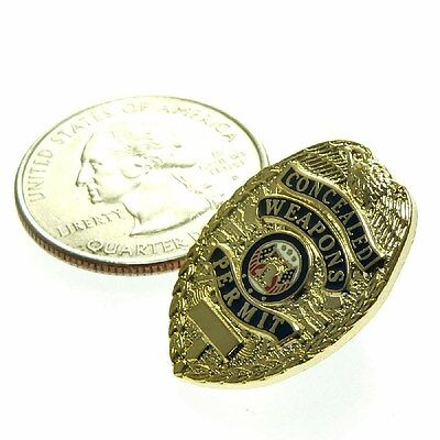 Concealed Weapons Carry Permit CWP CCP Mini Badge Lapel Pin Tie Tac  1""