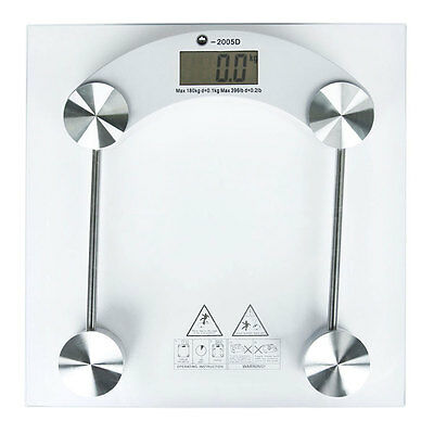 180KG Digital Electronic Glass Bathroom Scales Weighing Weight Scale KG LB STONE