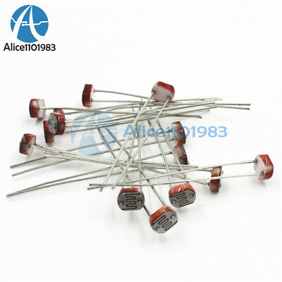 30pcs Photoresistor Ldr Cds 5mm Resistor Light-dependent Sensor Gl5516 Arduino