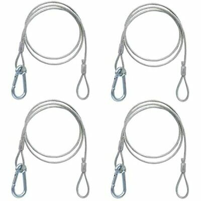 4 Pack Silver Safety Security Stage Light Stainless Steel Cables Rope With PVC