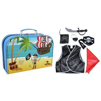 ☠ Piratenkoffer Spiel- und Verkleidungsset kleine Piraten Kostüm Säbel etc NEU (Kostüme Etc)