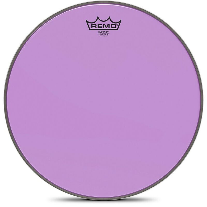Remo Emperor Colortone Purple Drum Head 14 in.