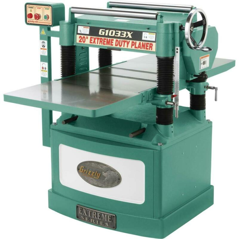 "Grizzly G1033X 20"" 5 HP Helical Cutterhead Planer"