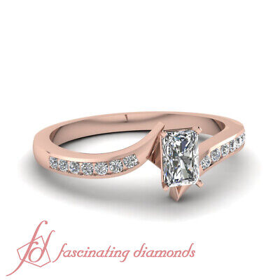 .75 Ct GIA Certified Radiant Cut Diamond Womens Engagement Rings Channel Set