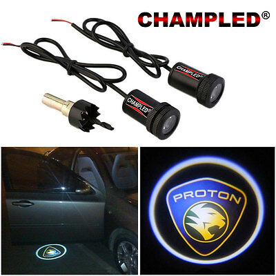 Champled For Proton Led Door Projector Logo Shadow Car Tuning Lights Emblem