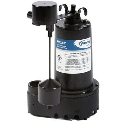 Proflo Pf92352 - 13 Hp Cast Iron Submersible Sump Pump W Vertical Float Switch