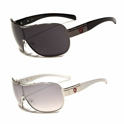 New Mens Khan Sport Sunglasses Shield Biker Driving Designer Fashion Shades