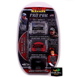 ZINK CALLS TRIPLE PAK SIGNATURE SERIES DIAPHRAGM TURKEY MOUTH CALL 3 PACK & DVD