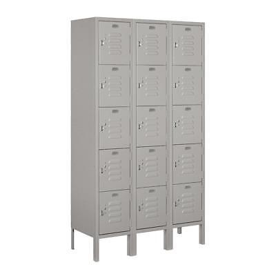 Salsbury 65352gy-u Five Tier Box Style Unassembled Standard Metal Locker In Gray