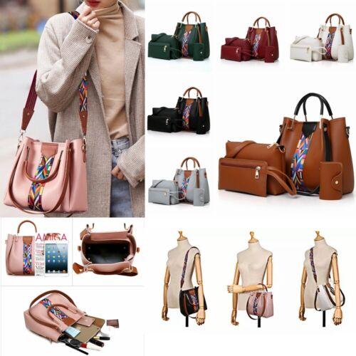 Fashion Women's PU Leather Handbag Shoulder Bag Purse Card H
