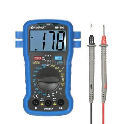 Backlight Lcd Digital Lcr Multimeter Inductance Transistor Hfe Test Meter F9v9