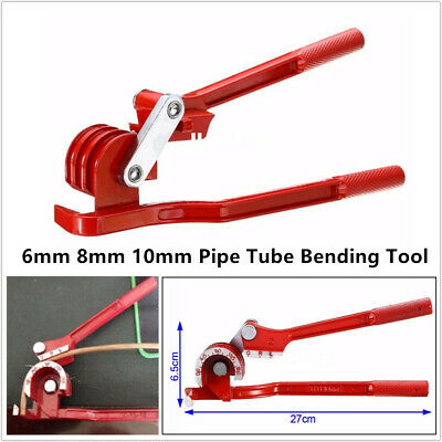 6 8mm 10mm Pipe Bending Tool Car Tube Bender Hose Brake Fuel Line Plier Machine