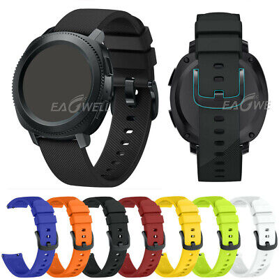 20MM Quick Release Sports Soft Silicone Watch Band For Samsung Gear S2 Classic ()