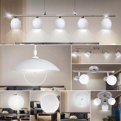 Design Decken Hänge Leuchte Höhe verstellbar Glas Strahler beweglich Wand Lampe ()