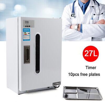 27l Dental Medical Uv Sterilizer Disinfection Cabinet W Timer 10 Plates 110v