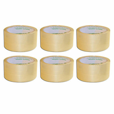 6 Rolls Package Clear Tape Box Carton Packaging Sealing Heavy Duty 2 X 55 Yards
