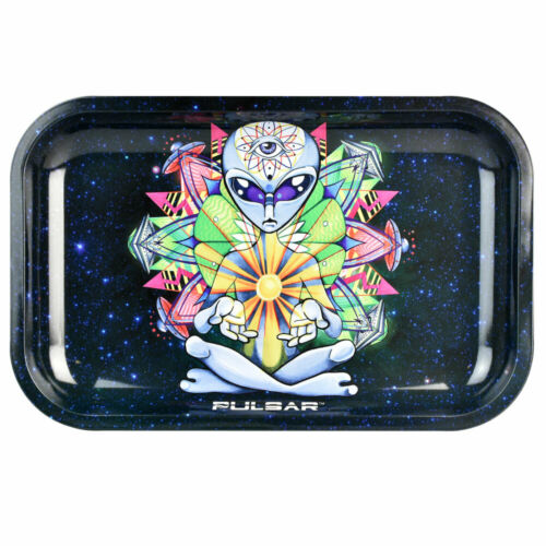 "Pulsar Rolling Tray Artist Series - Psychedelic Alien / 11""x7"""