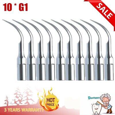 10 Dental Ultrasonic Piezo Scaler Scaling Tips G1 Fit Emswoodpecker Handpiece
