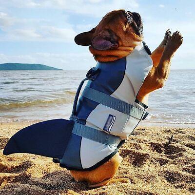 Pets Flotation Vest Life Jacket Shark Style Dogs Safety Swimming Suits Preserver](Dog Shark Suit)