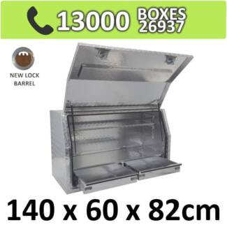 Aluminium Toolbox Side with Built in 2 Drawers Ute 1468FD-2