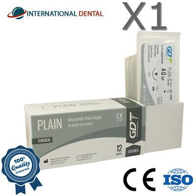 4-0 Gdt Monofilament Plain Catgut Surgical Sutures 75cm Absorbable 12pcsbox