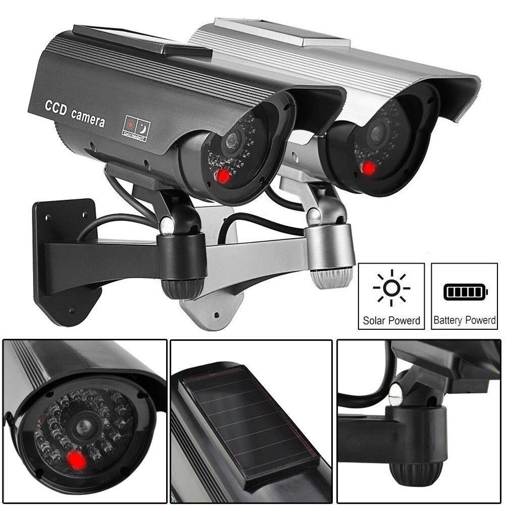 Dummy Berwachungskamera Test Vergleich Kamera Cctv Ir Led Sonnenenergie Solar Camera