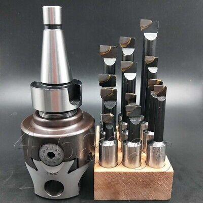 12pcs 12mm Carbide Boring Bar F1-34mm Boring Head Set Nt30-f1 Shank Tool