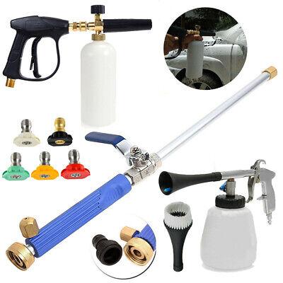 Pressure Car Cleaning Washer Gun Kit Snow Foam Lance Cannon Soap Bottle Sprayer