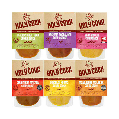 Holy Cow! Curry Sauce Various Flavours Selection Indian Recipes Masala 250g  (Masala Sauce Recipe)