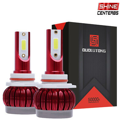 2x 9006 HB4 LED Headlight Bulb 6000K Xenon White High Beam Front Light 30000LM