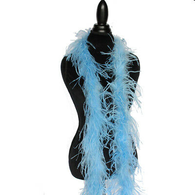 Periwinkle 1ply Ostrich Feather Boa Scarf Prom Halloween Costumes Dance Decor