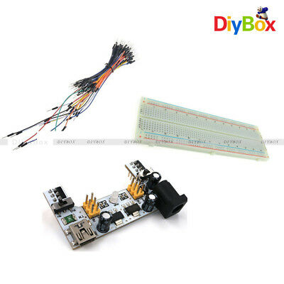 Mb102 Mini Usb Power Supply 830 Solderless Pcb Breadboard65pcs Jump Cable Wires