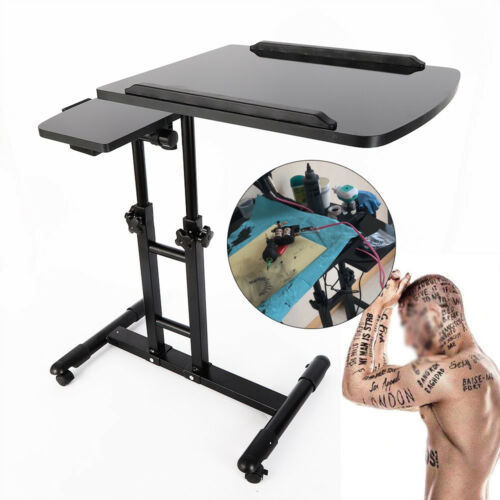 Double Countertop Tattoo Workbench Arm Rest Stand Table Roll
