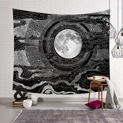 Sun Moon And Stars Tapestry Throw Wall Hanging Home Decor Blanket Bedspread GW - Stars And Moon Decorations
