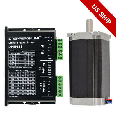1 Axis Cnc Kit 425oz.in Nema 23 Stepper Motor Driver 4.2a Cnc Mill Router