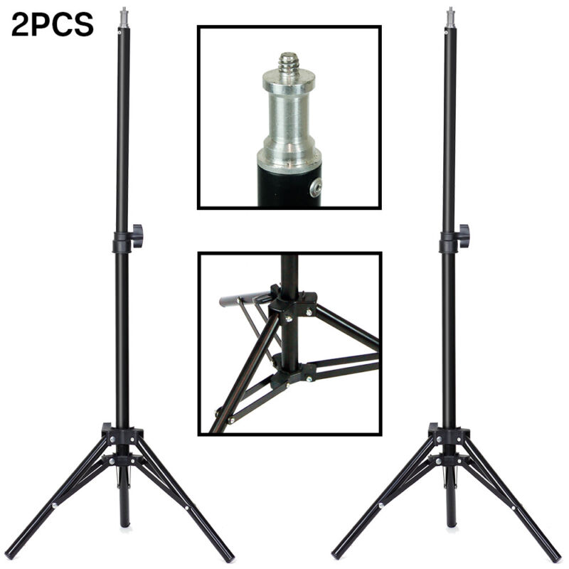 "|2-Pack| Photo Studio 28"" Tall Tripod Adjustable Photography Light Stand"
