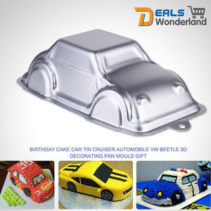 3D Car Baking Cake Decoration Fondant Pastry Mold Cutter Bakeware Tin Mould DIY