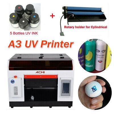 A3 Uv Printer 6color For Bottlescylindrical Signs 3d Rotation Embossed Wink