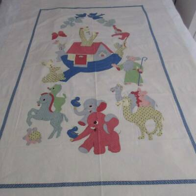 Vintage Crib Quilt Butterflies Appliqued Not Perfect More than likely a Cutter SALE
