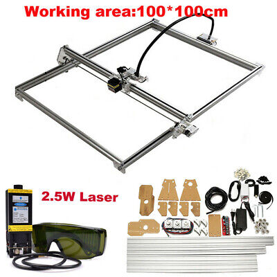 Cnc 100x100 Laser Kit 2.5w Laser Module Wood Carving Engraving Milling Machine