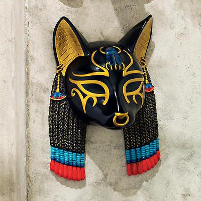 Egyptian Cat Masks (Ancient Egyptian Cat Goddess of Protection Bastet Wall Mask)
