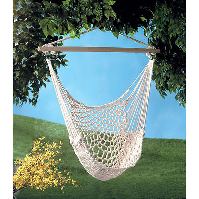 Hanging Swing Chair Weave Rope Hammock Outdoor Porch Yard Tree Cotton Polyester