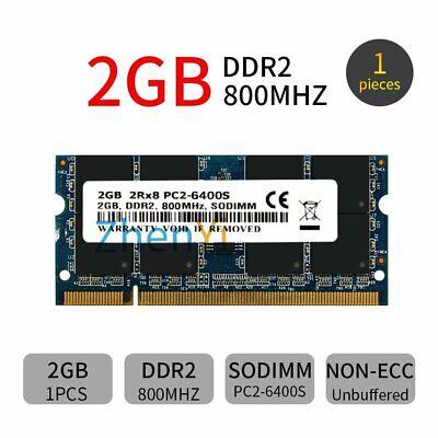 2GB DDR2 800MHz PC2-6400S 200Pin Azul CL6 No-ECC SODIMM RAM Portátil Memoria...